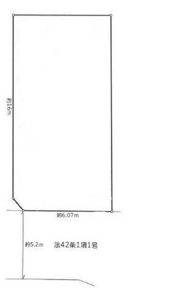 区画図 約35坪のゆとりの敷地です。
