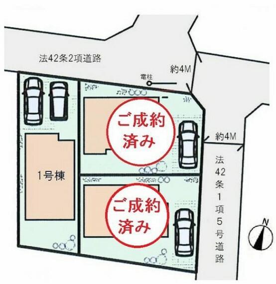 区画図 ■カースペース並列駐車2台分あり