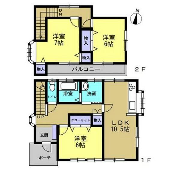間取り図 【リフォーム後間取り】間取り変更でLDKを作成する予定です。生活しやすい3LDKの住宅にリフォームします。全居室南向きで、昼間はポカポカとした陽光が差し込み快適に過ごせます。