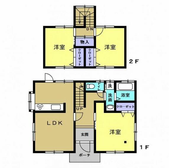 間取り図 【リフォーム中】間取りは2階建て3LDKです。