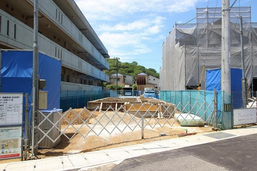 現況外観写真 2021.5月末:基礎工事中