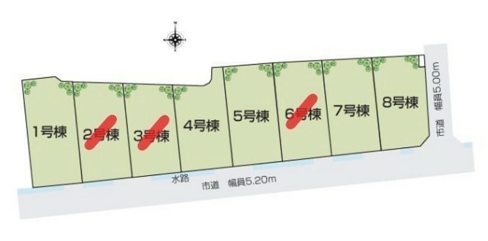 間取り図 区画図(1号棟)