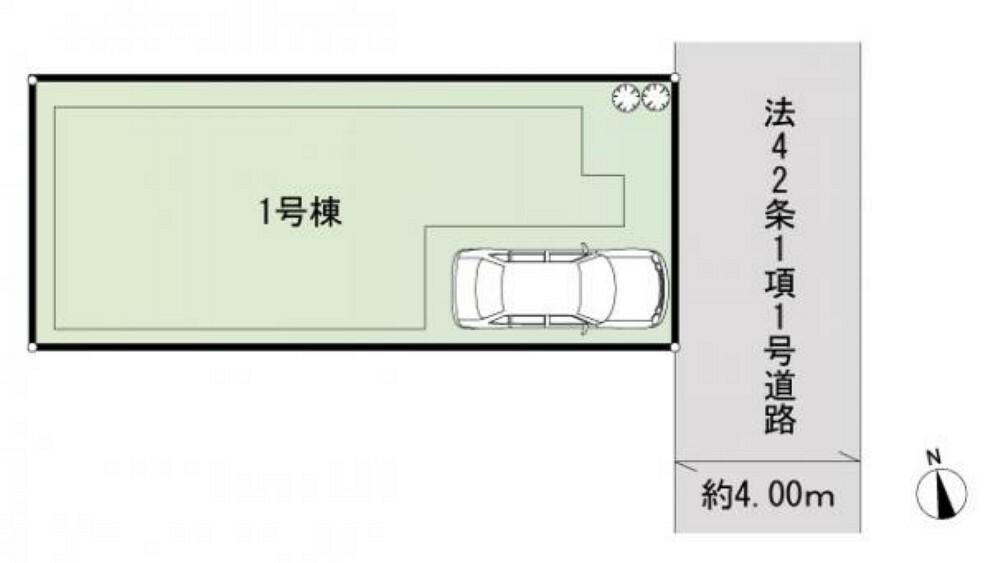 区画図 1号棟区画図