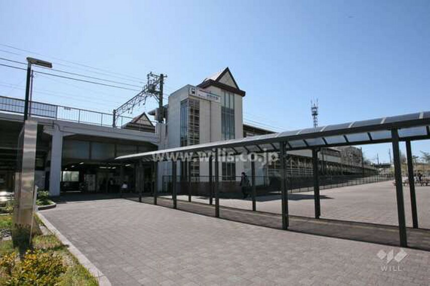 米野木駅までは徒歩27分。物件からは下り坂になっています。