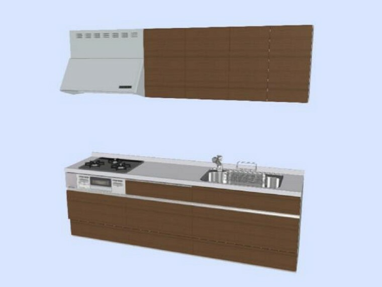 キッチン 【同仕様写真】既存のキッチンは撤去し、LIXIL製のシステムキッチンを新設予定です。傷のつきにくい人工大理石の天板と大きなシンクでお手入れもラクラクですよ。