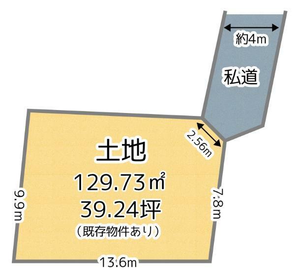 土地図面 お好きなハウスメーカーでの建築が可能です!