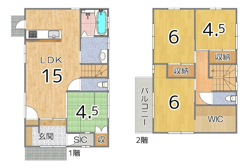 間取り図 住む人の好みに合わせてお部屋が作れるシンプルな間取り!