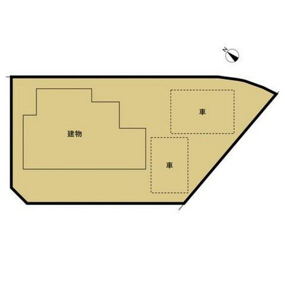 区画図 【区画図】現在駐車2台可能です。お庭スペースもございます。