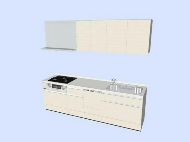 キッチン 【同仕様写真】キッチンはハウステック製の新品に交換します。天板は人工大理石製なので、熱に強く傷つきにくいため毎日のお手入れが簡単です。
