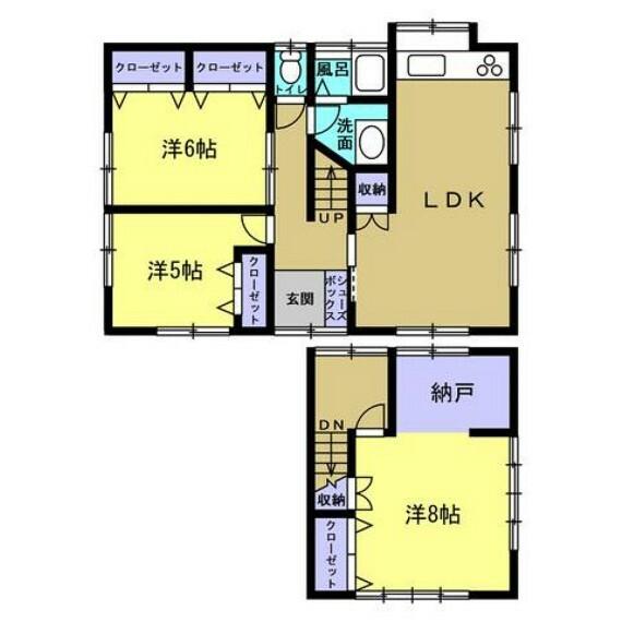 間取り図 【リフォーム後】リフォーム後は全部屋洋室の3LDKに生まれ変わります。
