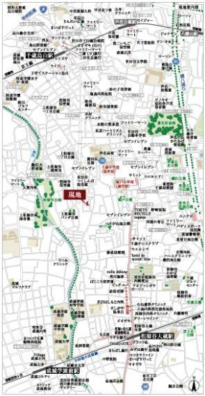 土地図面 広域案内図