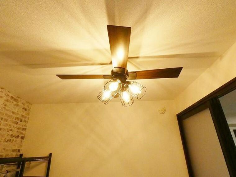 お洒落なシーリングファン付き お部屋の雰囲気をガラッと変えるアイテムです。