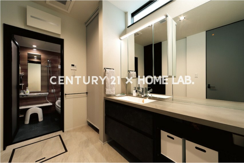 洗面化粧台 【住まいラボ施工例】洗面室