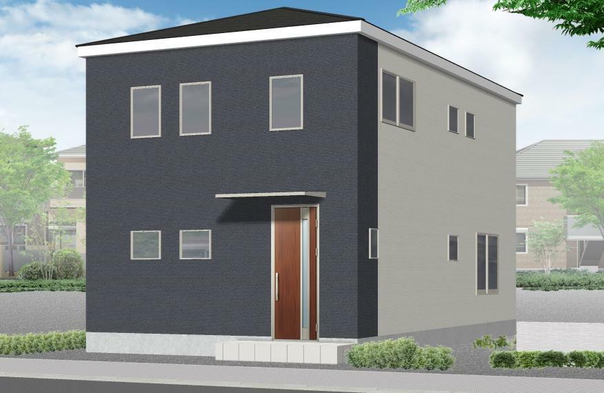 完成予想図(外観) 1号棟完成イメージ シンプルでスタイリッシュな外観!快適なオール電化住宅です。