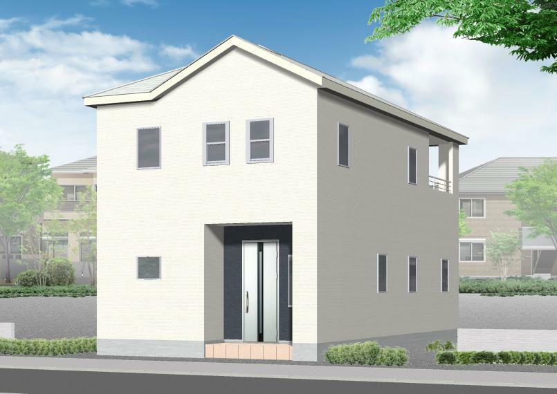 完成予想図(外観) 2号棟完成イメージ シンプルでスタイリッシュな外観!快適なオール電化住宅です。