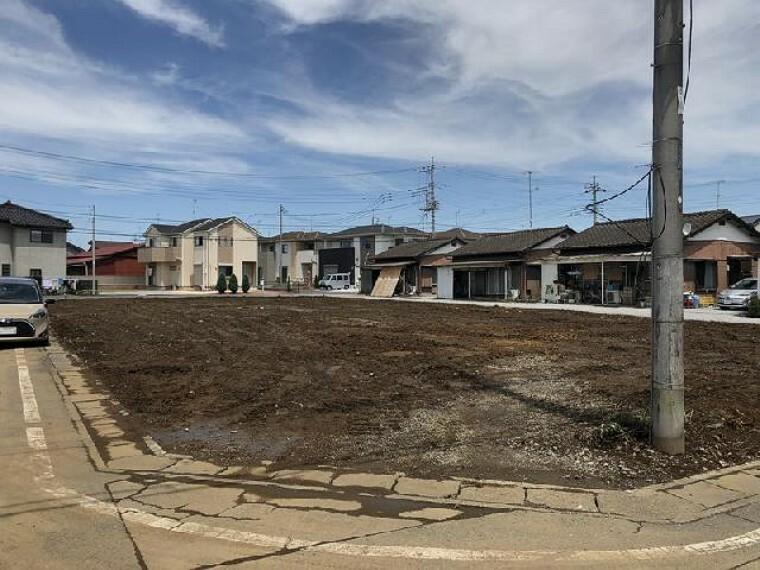 現況写真 松原3丁目 B区画 土地・・・分譲地南東側から撮影。