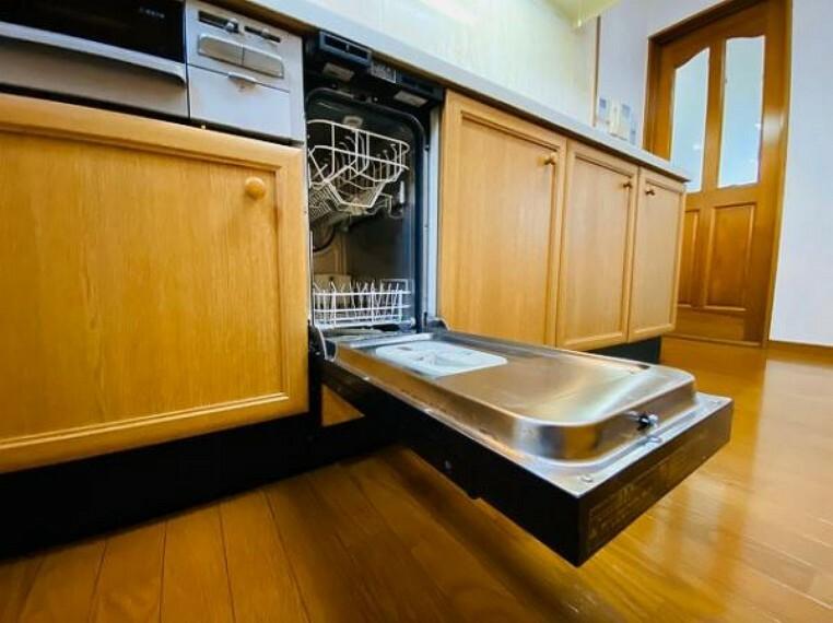 食器洗浄乾燥機付のシステムキッチンで、お料理後の後片付けも楽々!