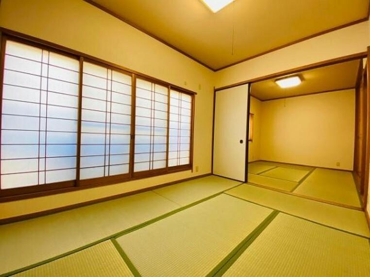 和室 和室は繋げて広くお使いいただくことも可能!
