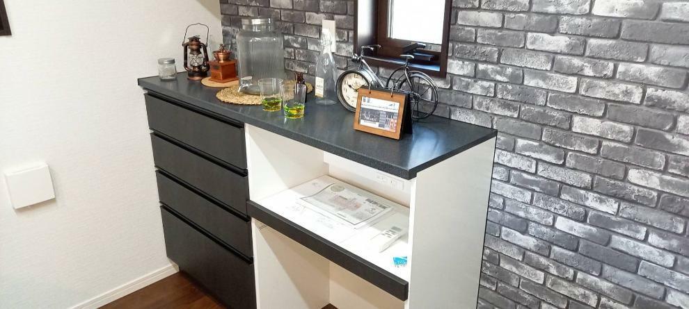 キッチン キッチンとお揃いのカップボード