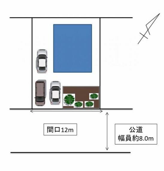 区画図 [敷地配置図]駐車場現状3台可能です。車種によります。南東向きの日当たり良好な住宅です。