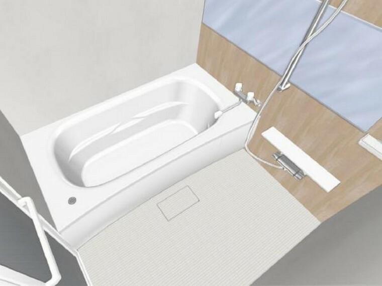 【同仕様写真】浴室はPanasonic製の新品のユニットバスに交換します。足を伸ばせる1坪サイズの広々とした浴槽で、1日の疲れをゆっくり癒すことができますよ。