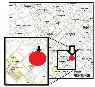 区画図 近隣、商業施設・教育施設点在していますので毎日の暮らしに便利です。