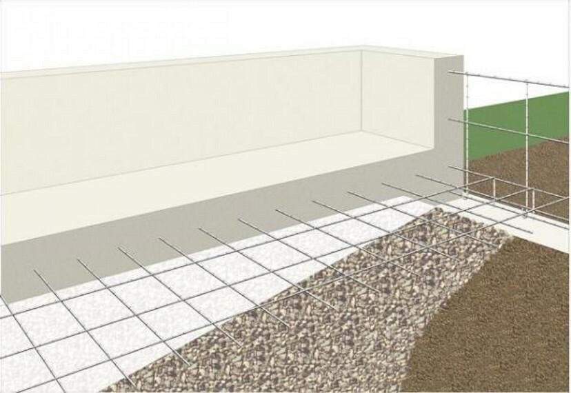 基礎に「鉄筋入りコンクリートベタ基礎」を標準採用。