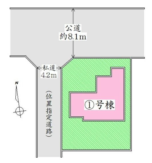 配置図 駐車並列2台可能。