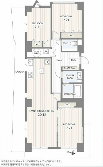 間取り図 間取り図です 3LDKのフルリノベーションのマンションです