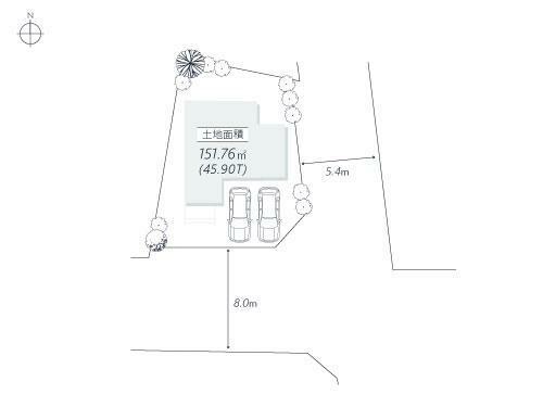 区画図 区画図■閑静な住宅街で住環境もよく、東南角地で陽当りも良好!自由度の高い土地で様々なお家が建てられます!
