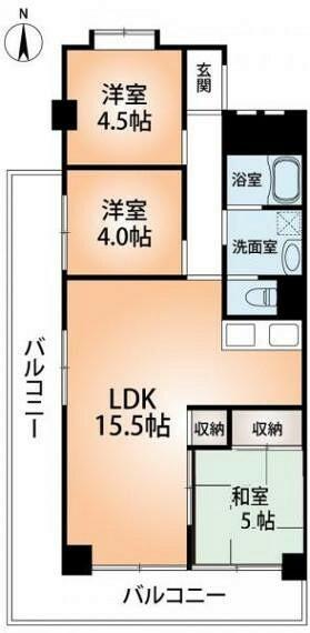 間取り図 627号室間取り図。南西角部屋で引き回しバルコニーが特徴。室内は前面改装予定で和室も洋室に変更予定。