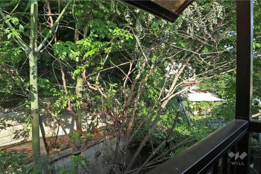 眺望 バルコニーは東向きにつき、主寝室に朝日が差し込みます。