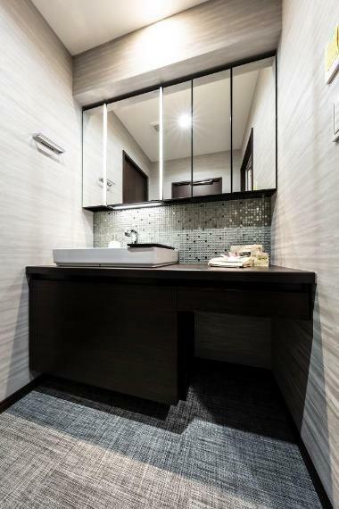 洗面化粧台 ベッセル式洗面器