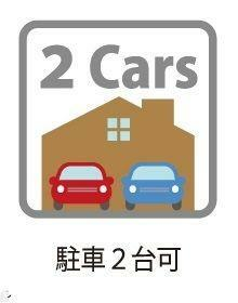 駐車場 駐車2台可・2台分の駐車スペースを確保。友人が車で遊びに来ても安心ですね。