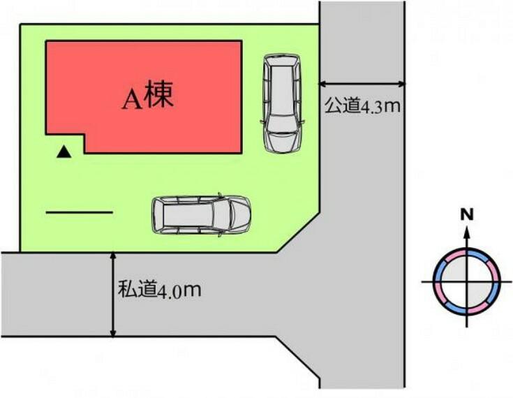 区画図 (区画)2台駐車OK!車通勤の共働き夫婦にもぴったりですね^^