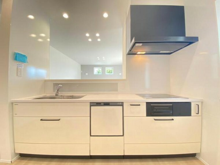 キッチン (キッチン)食洗機付きのキッチンが女性に人気!スパイスニッチもあり、塩コショウやナツメグなども保管出来ます。