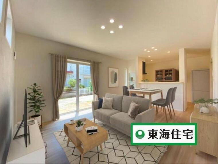 リビングダイニング (リビング)ナチュラルで明るい色合いは幅広い世代に愛されるデザイン!今だけではなく、10年後20年後も飽きずに楽しめそうですね^^※家具はイメージです。