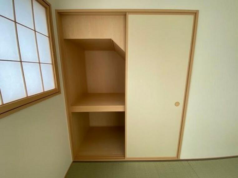 収納 お布団も収納できる広々とした押入れは、季節のものもたくさん収納しておける便利なスペースです!