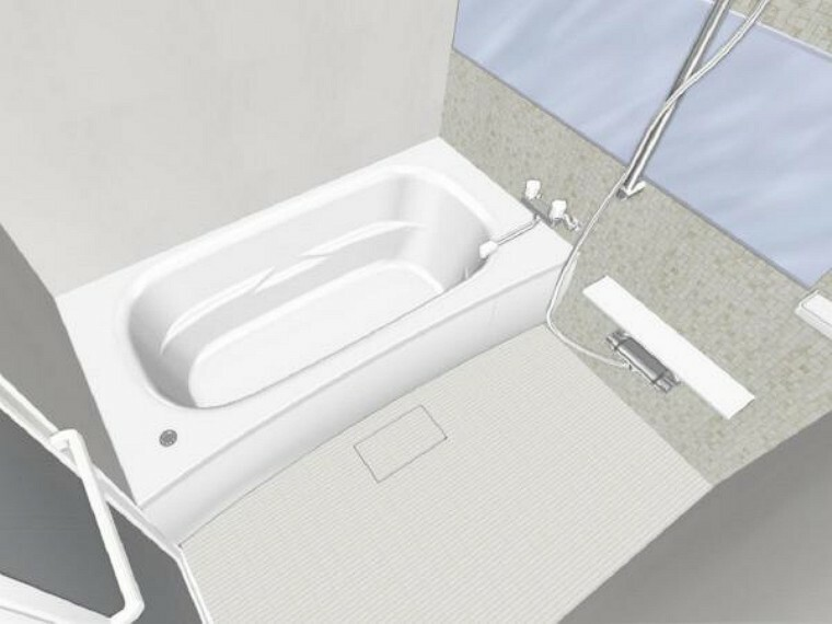 【同仕様写真】浴室はリクシル製の新品のユニットバスに交換します。足を伸ばせる1坪サイズの広々とした浴槽で、1日の疲れをゆっくり癒すことができますよ。