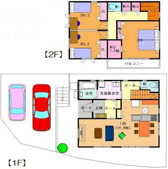 参考プラン間取り図 建物プラン例価格:1830万円 延床面積:93.98平米