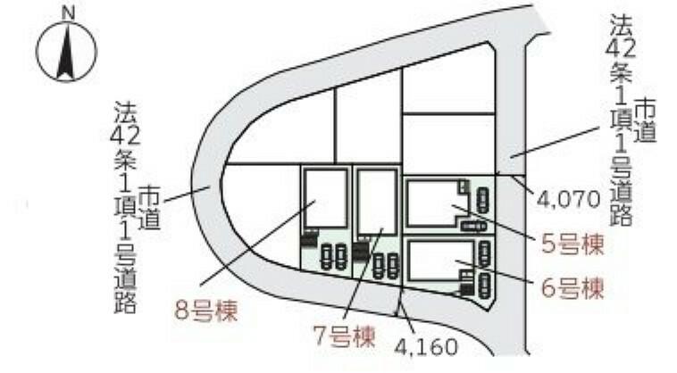 区画図 8号棟です
