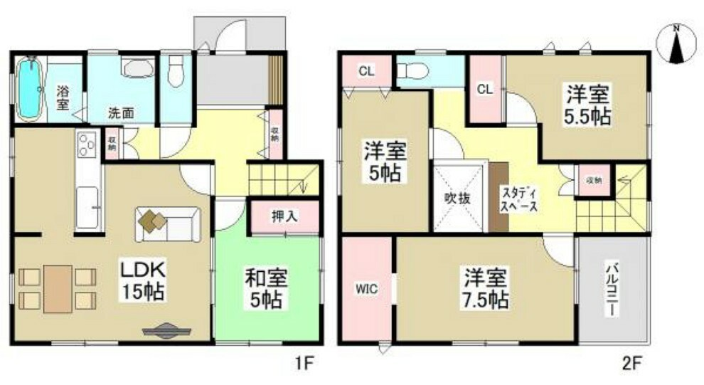間取り図 I号棟間取図 (※間取り内の家具等のレイアウトはイメージ図です。)
