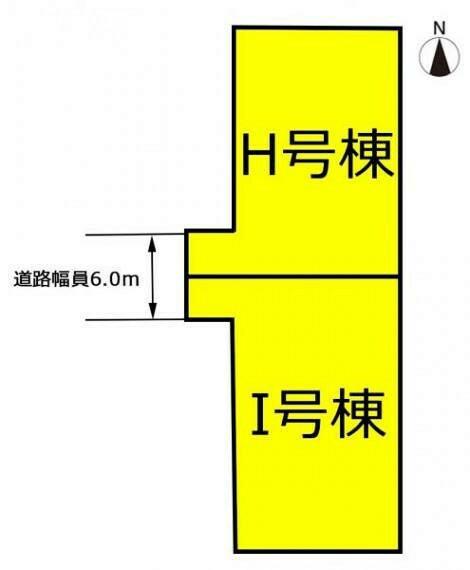 区画図 本物件はI号棟です。