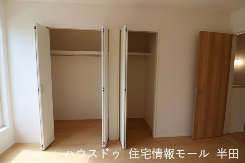 収納 6.7帖洋室 2つの収納付!使い分けて住空間をスッキリと