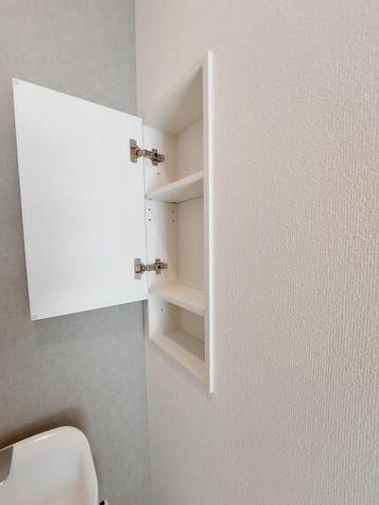 収納 2階のトイレにも収納付き