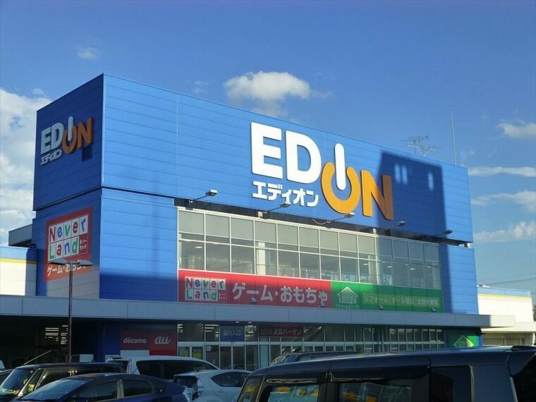 【エディオン柴田店】 営業時間 10:00~20:00  店内は広々としていて商品も数多く取り入れている。スーパーと同じ敷地内にあり便利です。