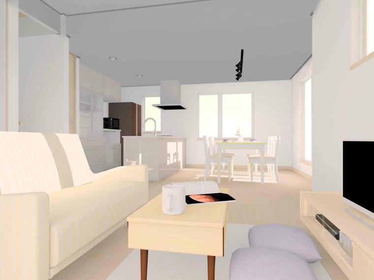 居間・リビング 【ラナーク リビングパース】 高天井のリビングは開放感があるので、ゆったり過ごせるプチ贅沢空間!