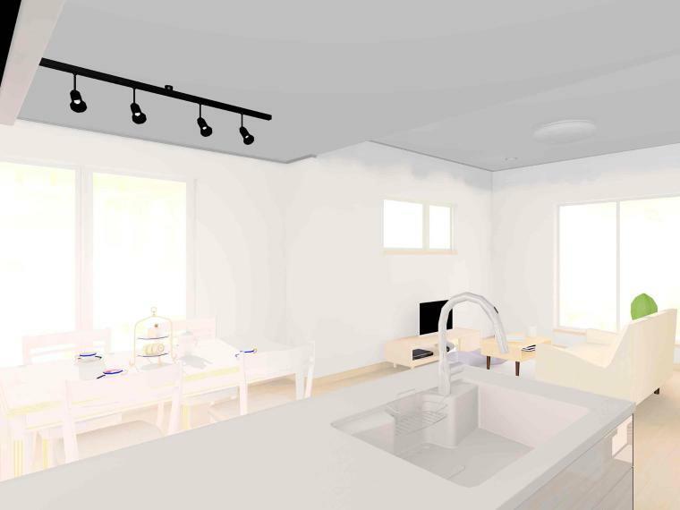 キッチン 【ラナーク キッチンパース】 対面キッチンなので、ダイニングやリビングにいる家族とコミュニケーションがとりやすいです。 背面には大容量の「コの字型食器棚」がついているので、食器をたくさんしまうことができます。