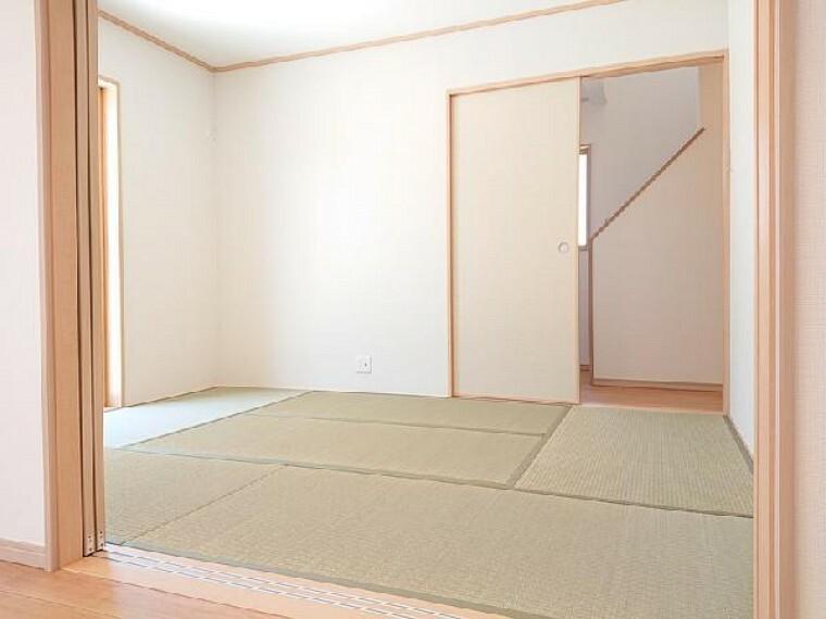 K号棟:和室・・・玄関からも直接入れる和室は急な来客にも対応できます。
