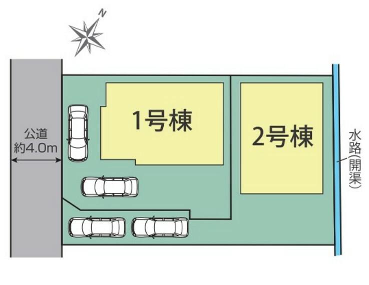 区画図 1号棟区画図 カースペース2台可